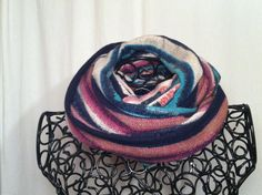 Colourful infinity scarf by EnchanteeDesigns on Etsy