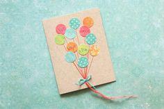 Birthday Card: Balloon Wishes, Handmade Birthday Card on Etsy, $8.00
