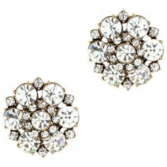J.Crew Circular petals earrings found on Polyvore