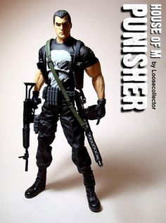 House of M: Punisher Custom Action Figure by loosecollector Base figure: Punisher