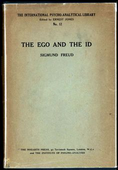 The Ego and the Id by Sigmund Freud, translated by Joan Riviere and published in 1927 by the Hogarth Press, Leonard and Virginia Woolf's personal printing house. The Hogarth Press would be the first authorized publishers of Freud in English. Abnormal Psychology, Psychology Books, Freud Psychology, Reading Lists, Book Lists, Books To Read, My Books, Bloomsbury Group, Philosophy Books