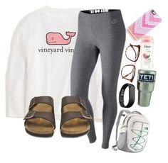 """""""Is it too late now to say sorry?"""" by lacrosse-19 on Polyvore featuring Vineyard Vines, NIKE, The North Face, Birkenstock, Fitbit, Victoria Beckham and Casetify"""