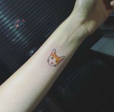 54 cat tattoos that will make you want to get inked: Simple cat tattoo with color