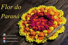 Flor do Paraná - Vamos fazer? <3 https://youtu.be/i0215_qm4Vg <3 #crochet #professorasimone #semprecirculo #BarrocoMaxColor
