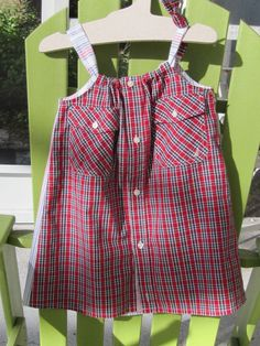 Dress size 3-4 - Daddy's Button Shirt - sold Big Bang Bazaar