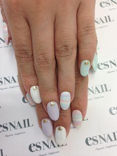 Lovely pastel nail art