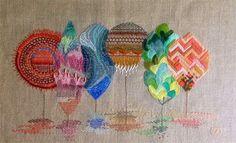 Yolanda Andrés, artwork embroidered