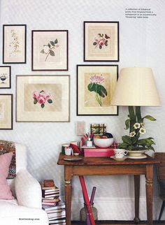 Botanical pretties...we must do something about that lamp, though.