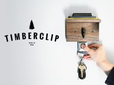 The Timberclip - A handcrafted personal valet station made of natural wood and repurposed seat buckles. Each one is handcrafted in the USA. Get yours by backing Timberclip on Kickstarter!