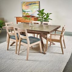 Rockwood Table Chairs In Red Oak Chilton Furniture Freeport Me