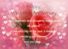 Wedding anniversary wishes to a couple with picture messages for