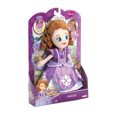 Soft and cuddly, this Sofia the First doll will be your little one's favorite playtime pal. She's wearing a purple princess dress and has soft brown curls underneath her pretty tiara. Great for bedtime, naps, and hours of imaginative play. Disney Lessons, Sofia The First, Best Kids Toys, Dolls For Sale, Imaginative Play, Soft Dolls, 10th Birthday, Plush Dolls, Toys For Girls
