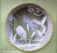 Бумажный туннель Квиллинг Белое + цвет Светлана Белова