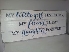 "Hand painted ""My little girl ""wood sign ~Sign Detail~~ White with distressed background, black and blue lettering~ Measurements are approx 30cm high x 75cm wide x 3cm deep~ Sign comes ready to hang or it can be placed along a wall or shelf to fit in with your decor~ Each sign is finished with a high quality all purpose sealerThis sign is made to order so colours can be changed - if you would like a different colour please email me at marleeandash@ya... Sign Sign, Antique Decor, Pallet Signs, My Little Girl, Wooden Signs, Different Colors, Ash, Diy Home Decor, Purpose"