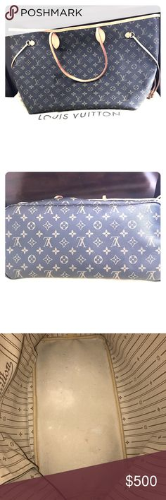 """Louis Vuitton Monogram Canvas Neverfull Tote GM Used LV Neverfull GM WITHOUT zippered clutch. Wear and tear in the interior (pictured). On the bottom of the bag there is a white line on the leather about 1.5"""" long and less than 1/4"""" in width. Otherwise normal patina on handles and leather.  Dust bag included. Louis Vuitton Bags Shoulder Bags"""
