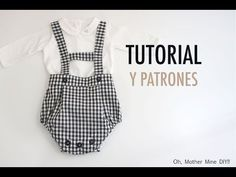 Costura: Peto ranita para bebés (patrones gratis) - YouTube Girls Playsuit, Baby Girl Romper, Baby Girl Dresses, Baby Boy Outfits, Kids Outfits, Sewing Baby Clothes, Baby Sewing, Doll Clothes, Baby Dress Design