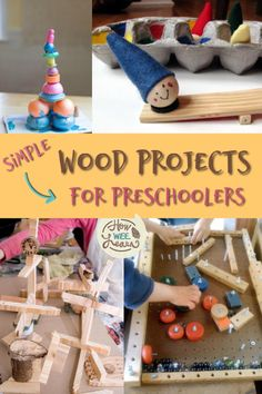 These wood projects for kids are so unique! I love that most are simple enough for my preschoolers to do. A great introduction to woodworking for beginners. The wooden ladder is such a clever idea! Kids Woodworking Projects, Wood Projects For Kids, Craft Projects, Fine Woodworking, Woodworking Equipment, Rockler Woodworking, Woodworking Store, Woodworking Supplies, Woodworking Classes