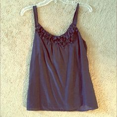 Navy blue LOFT top/ blouse Nice and light for Summer, navy blue, excellent used condition , size medium LOFT Tops Blouses