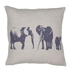 Elephant Family Mini Cushion
