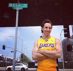 Steve Nash, courtesy twitter.com/Lakers-Some things are going to take some getting used to...
