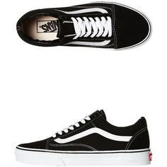 Vans Mens Old Skool Shoe (120 AUD) ❤ liked on Polyvore featuring men's fashion, men's shoes, men's sneakers, shoes, sneakers, vans, black, footwear, mens footwear and mens black shoes