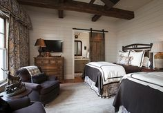 what a pretty bedroom.  two beds.  Francie Hargrove