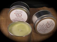 Massage Candles made with Natural Wax and by DesertMoonBathNBody, $14.00