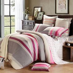 Mercury Home Textile 100%cotton twill printed 4pcs bedding sets duvet cover bed sheet King/Queen size Ferraga