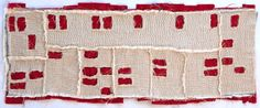"Modesto Foreclosure Quilt, 2011. 16"" x 42"" Tea stained voile, linen, cotton and embroidery thread. By Kathryn Clark."