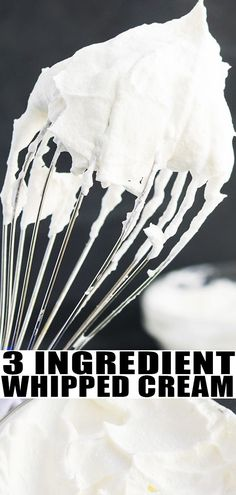 3 Ingredient Whipped Cream