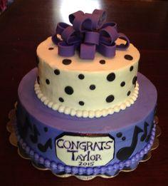 Music inspired graduation cake