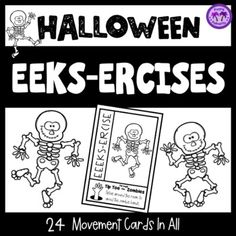 24 fun brain breaks and movement activities! Get your students active with these silly and imaginative movement breaks. Use them as task cards in the classroom, as a whole group shout-out activiity, or create a EEEKS-ercise Activity Ring for students to work with. These classroom movement breaks...