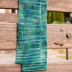 Broomstick Lace Accent Scarf Crochet Pattern