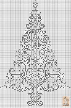 AAN albero di natale cross stitch