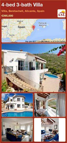 4-bed 3-bath Villa in Villa, Benitachell, Alicante, Spain ►€395,000 #PropertyForSaleInSpain