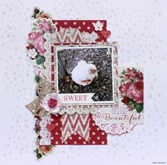 DT layout for using Tropical Punch - Anita Bownds Scrapbook Blog, Scrapbooking Layouts, Scrapbook Pages, Specialty Paper, General Crafts, Spring Is Here, Hello Beautiful, Punch, Card Making