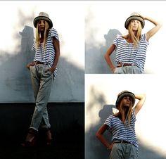 stripes & slouchy pants