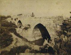 جسر جنداس ، اللد - فلسطين 1870م  Gendas bridge, Lydda, Palestine, 1870