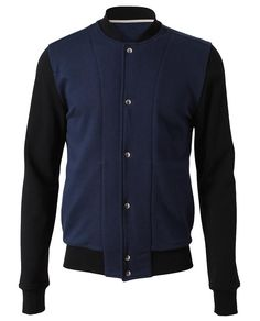 Contrasting Cotton Blouson by DIOR HOMME