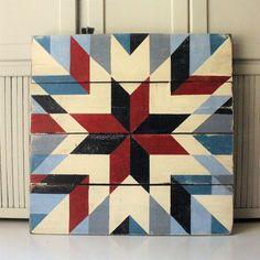 Image of American Starburst Barn Quilt Quilt Square Patterns, Barn Quilt Patterns, Pattern Blocks, Square Quilt, Barn Quilt Designs, Quilting Designs, Barn Star Decor, Pallet Barn, American Barn