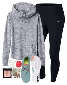 """y school have a dress code"" by elizabethannee ❤ liked on Polyvore featuring NIKE, Eos, Athleta, PhunkeeTree, Bobbi Brown Cosmetics, women's clothing, women, female, woman and misses"