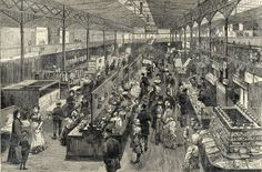 Leeds Kirkgate Market has long been celebrated as the largest indoor market in Europe, but it's not just the array of traders and products that set it apart as a truly unique shopping experience. Old Images, Old Photos, Leeds Market, Leeds England, Yorkshire England, Derelict Places, Leeds City, Framed Prints, Canvas Prints