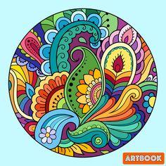 Paisley Drawing, Mandala Drawing, Coloring Book Art, Mandala Coloring, Classroom Art Projects, Mandala Canvas, Scandinavian Folk Art, Zen Art, Motif Floral