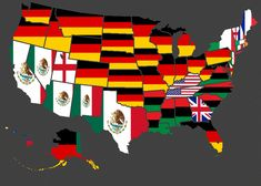 Largest Ethnicities of US states (North America, United States) U.s. States, United States, States America, Funny Maps, Map Geo, Alternate History, Historical Maps, American History, North America