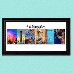 #Disney art print with photos used in prints that are actual pictures of things from the Walt Disney World Resort!  #disneyworld