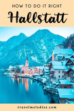 Taking a day trip from Salzburg to Hallstatt and wondering how to do it right? Read our travel guide to Hallstatt and Dachstein Salzkammergut region to learn how. What to do in Hallstatt Road Trip Europe, Travel Tips For Europe, Travel Destinations, Holiday Destinations, Croatia Travel, Thailand Travel, Bangkok Thailand, Hawaii Travel, Italy Travel