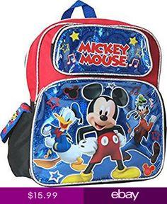 Disney Mickey Mouse 12 Toddler School Backpack Boys Book Bag   boybackpacksforkids  boybackpackstoddler  boybackpackskindergarten a66cfb0d07415