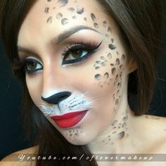 cheetah halloween makeup tutorial youtube halloween make up