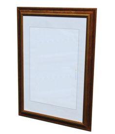 Dřevěný rám Váh měděný 50x60