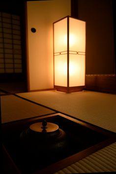Tradicional quarto do chá japonêse, Chasitsu. 茶室